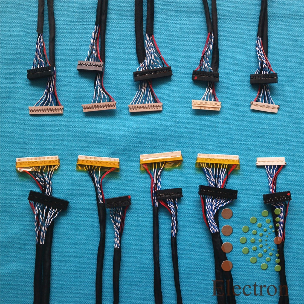10pcs LCD screen cable Kit support Universal LVDS Cable for 12 inch -22 inch LED LCD driver board connected screen wire 31x12x3 inch universal turbo fmic intercooler 3 inch piping kit toyota supra mkiii mk3 7mgte