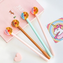 4 pcs Cute cookies gel pen donuts food 0.5mm Black color pens for writing Stationery Office School supplies Canetas escolar F203 все цены