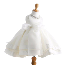 Free shipping retail children's clothing dress party girl Summer Wedding Princess Birthday white dress