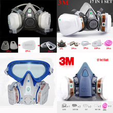 Industry Painting Spray Respirator Dust Gas Mask Same For 3 M 6200 501 5N11 6001 7502 Half face Respirator mask
