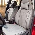 Juego de tapas de asiento de coche personalizado para Toyota Corolla asiento cubiertas y ayudas de coche dedicado-fundas de cojines accesorios interiores y apoyo para la cabeza