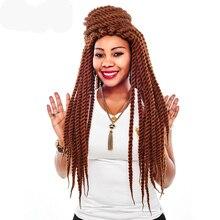 AliLeader наращивание волос 12, 18, 22 дюйма, вязанные крючком косички, бордовый, черный, серебряный цвет, Гавана, крученые синтетические косички волос 1-10 шт