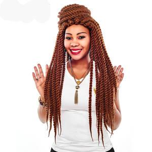 Alileader Hair-Extension Braids Havana Twist Crochet Hair-1-10pcs Burgundy Synthetic