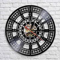 1Piece Tower Travel Landmark Big Ben Wall   Clock   London Big Ben Vinyl Record Wall   Clock   Modern Design Handmade Travel Gift Idea