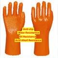Acid Alkali Resistant Anti-slip Перчатки Нефти и Истиранию Restistant Перчатки Рабочие Защитные Перчатки для Защиты Рук