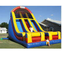 Amusement park games outdoor Jumping slide giant inflatable slide for kids with blower