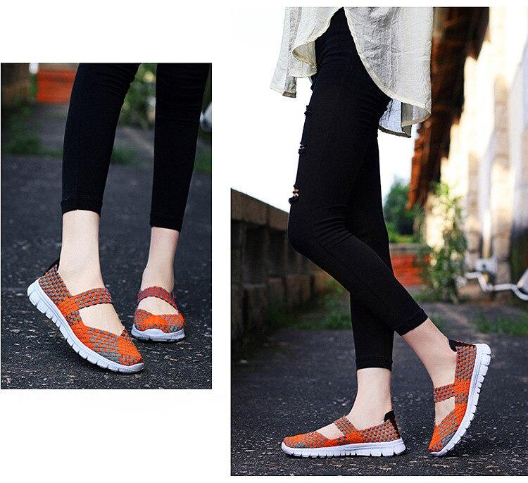 QJ 599-2019 Breathable Women Summer Shoes Fabric Woman Flats-13