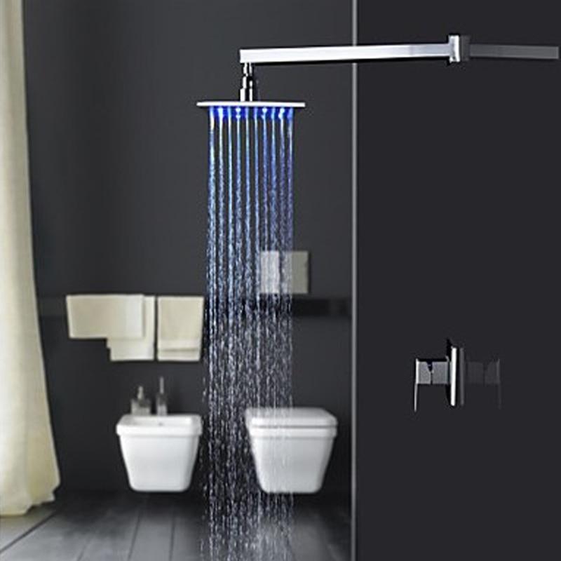 Superfaucet LED Shower Heads Bathroom Shower Set,LED Faucet,Faucet Shower,Rainfall Shower Head Set HG-8299 sognare new wall mounted bathroom bath shower faucet with handheld shower head chrome finish shower faucet set mixer tap d5205