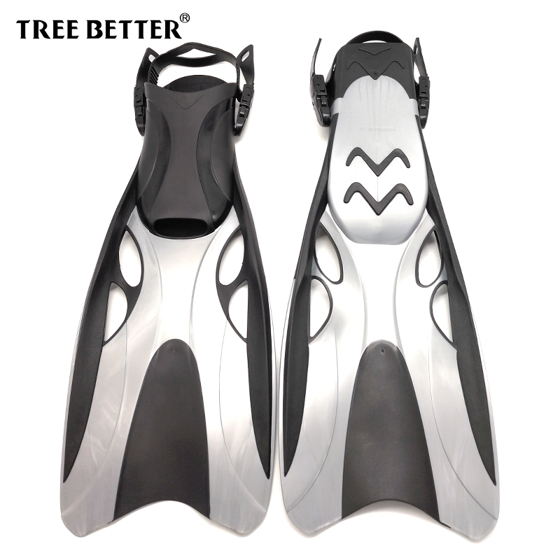 Adjustable Swimming fins Open with Long Flippers Professional Training Diving Fins Snorkeling equipment Dive shoes for men women виниловые обои marburg ornamental home 55209