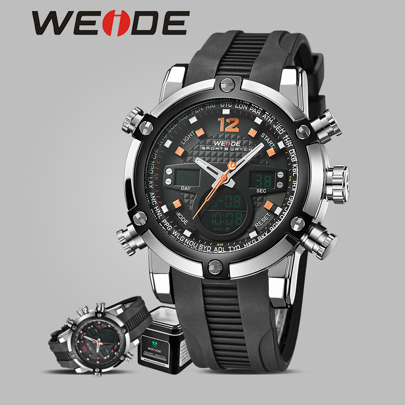WEIDE luxury brand genuine  quartz sports  watch waterproof  reloj silicon watches alarm  clock relogio automatico masculino weide new men quartz casual watch army military sports watch waterproof back light men watches alarm clock multiple time zone