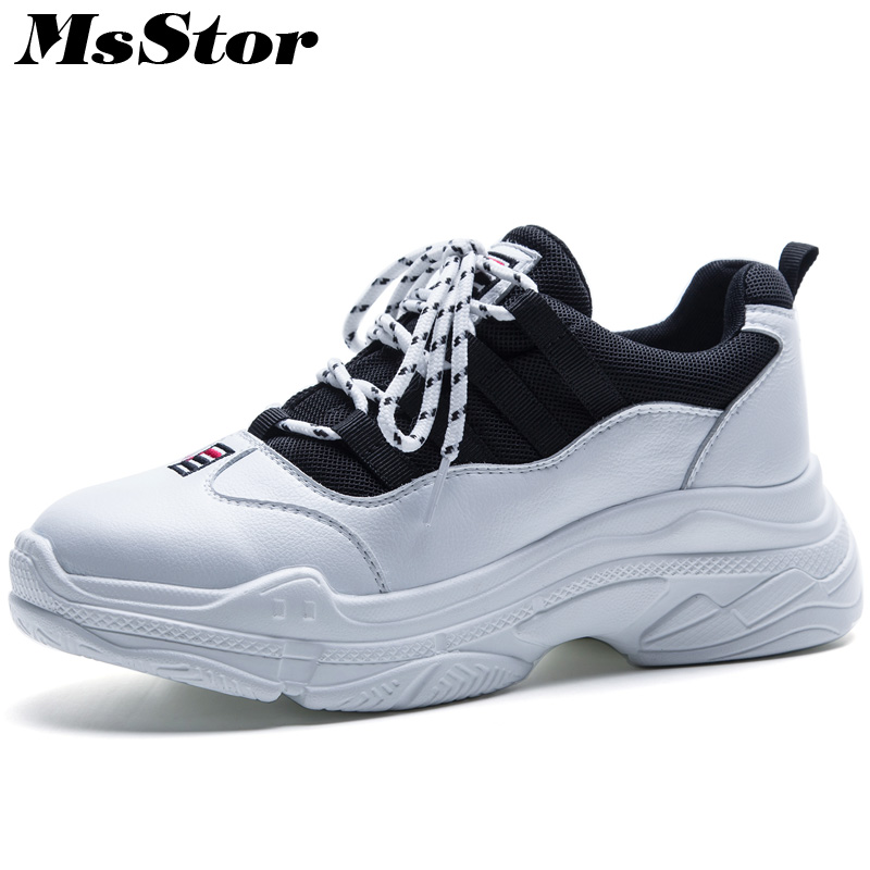 MsStor Round Toe Mixed Colors Women Flats Casual Fashion Ladies Flat Shoes 2018 Spring Platform Women Flats Brand Sneakers Shoes new 2017 spring summer women shoes pointed toe high quality brand fashion womens flats ladies plus size 41 sweet flock t179
