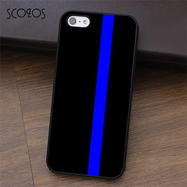 uk availability 8a343 862de US $4.99 |SCOZOS THIN BLUE LINE Police phone case for iphone X 4 4s 5 5s Se  5C 6 6s 7 8 6&6s plus 7 plus 8 plus #ea355-in Fitted Cases from Cellphones  ...