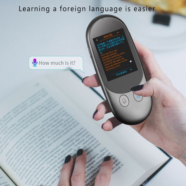 Portable Voice Translator Mini Pocket  Real Time  F1 Camera 2.4 inch Screen Translation Tool Photographic Scanning Translator