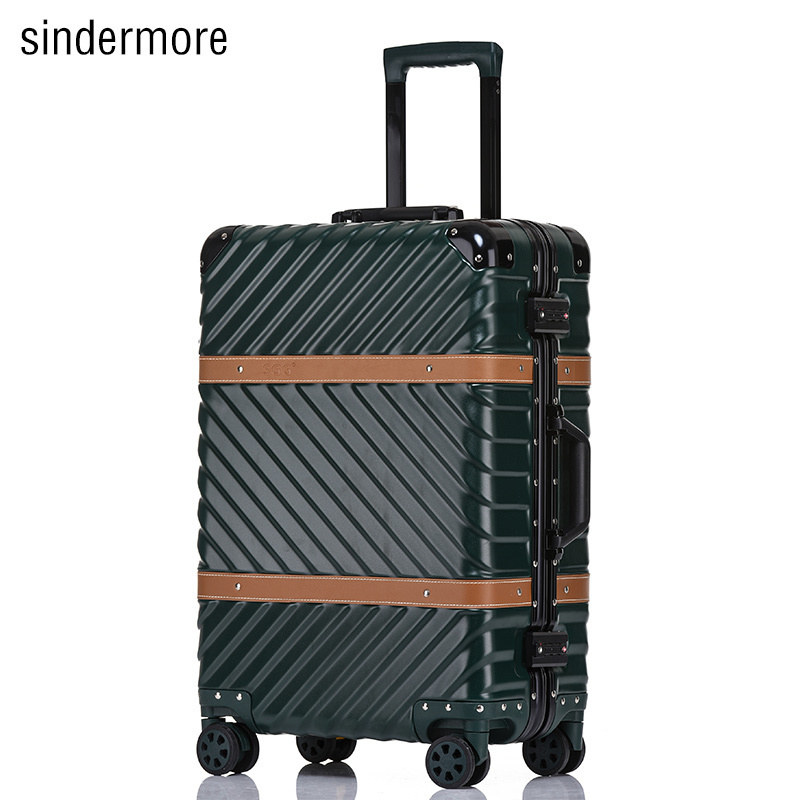 Hardside Rolling Luggage Suitcase 20 Carry On 24 26 29 Checked Luggage Aluminum Frame PC Luggage Travel Trolley Suitcase Wheels sindermore aluminum luggage suitcase 20 25 29 carry on luggage hardside rolling luggage travel trolley luggage suitcase