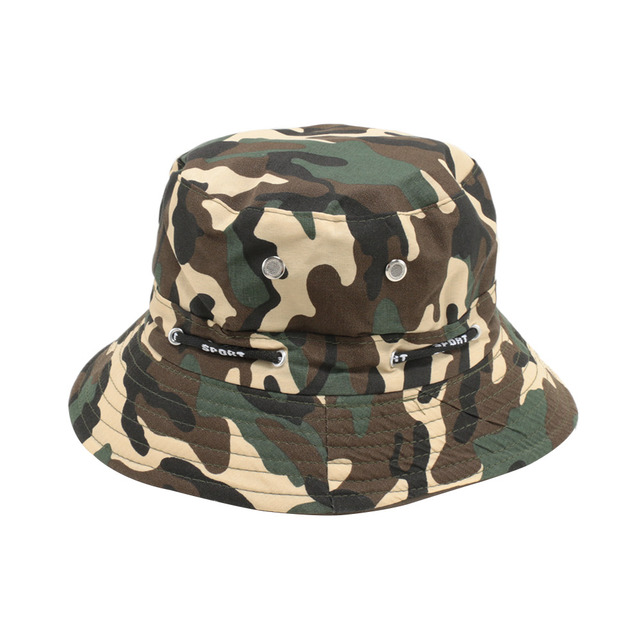 Camouflage Unisex Bucket Hat Fisherman Cap Hunting Fishing Outdoor Cap Men s  Women s Summer Sun Hat a291e28322a0