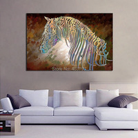 Custom No Framed Oil Painting Posters And Prints Wall Fine Horse Picture Into Modern Abstract Art Painting On Canvas