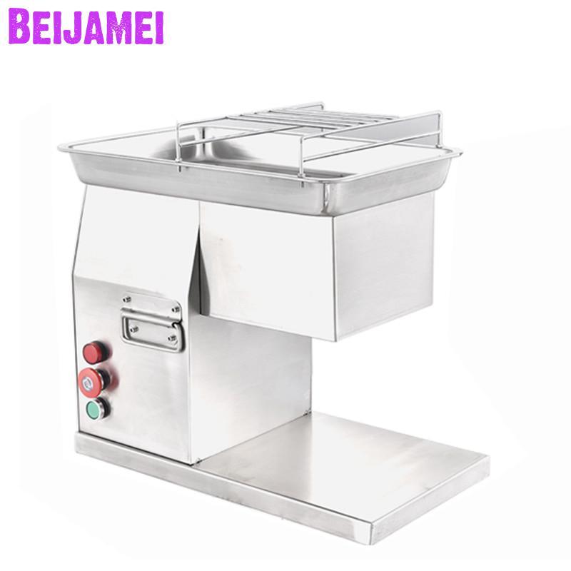 Máquina de Corte Carne de Carneiro Beijamei Comercial Carne Elétrica Desktop Multifuncional Cortador Peixe