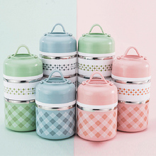 304 Stainless Steel Portable Thermal Lunch Box Office Lunchbox Sealed Thermos Food Container 630/960/1230 Ml