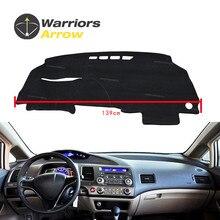 Для Honda Civic 4 двери седан 2006-2011 интерьер приборной панели крышки Dashmat Даш Мат Pad козырек от солнца приборная панель ковровые покрытия для леворульных автомобилей черного цвета