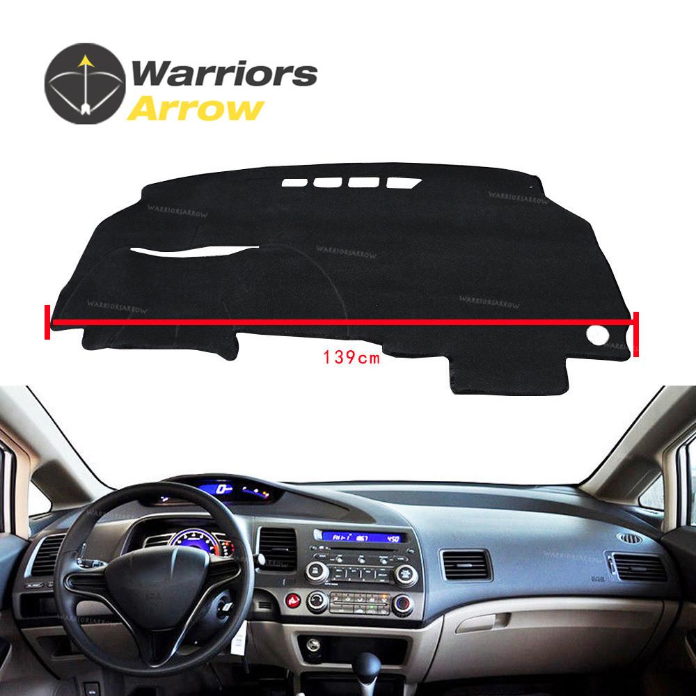 For Honda Civic 4-Door Sedan 2006-2011 Interior Dashboard Cover Dashmat Dash Mat Pad Sun Shade Dash Board Cover Carpet LHD Black