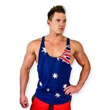 Men Tank top Gyms Fitness Tight Cotton Sleeveless Tanks Bodybuilding clothing Golds Stringer Singlet male 3D Vest