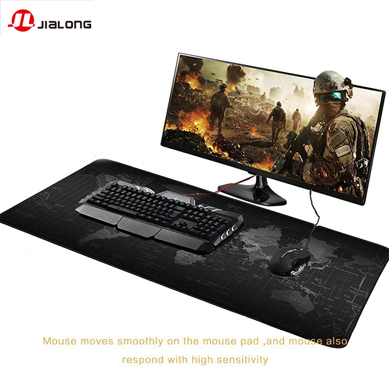 JIALONG Non-slip rubber material Mouse Pad Game XL Large Carpet Mousepad Gamer Keyboard Mat 900*400mm Mouse Pad With Anti-slide