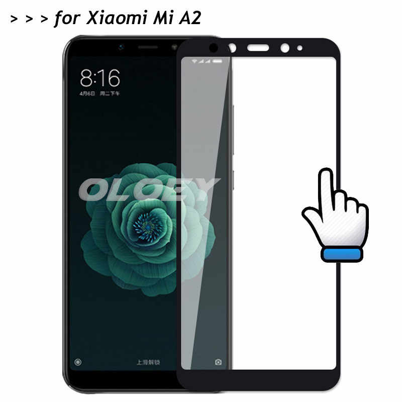 For Xiaomi Mi A2 Full Cover 3D Screen Protector 9H Tempered Glass All Coverge Safety Protective Film On MiA2 A 2 6X 5.99""