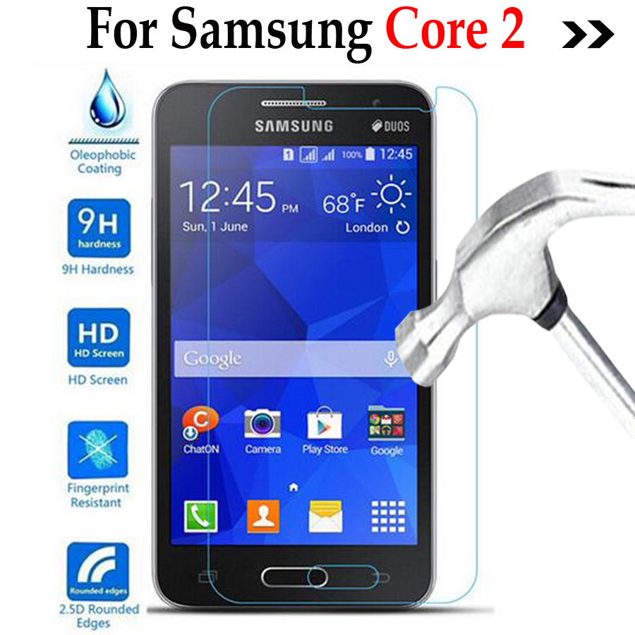 Core2 Tempered glass Cover For Samsung Galaxy Core 2 II Dous SM-G355H G355 G3559 Screen Protector phone protective film
