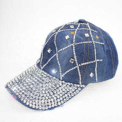 Chapéu de Senhora com diamante strass chapéu de cowboy primavera verão outono cap língua de pato chapéu de lazer sol