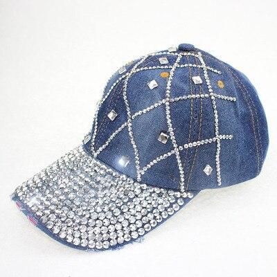 Hat Lady with diamond rhinestone cowboy hat spring summer autumn cap  duck tongue leisure sun hat