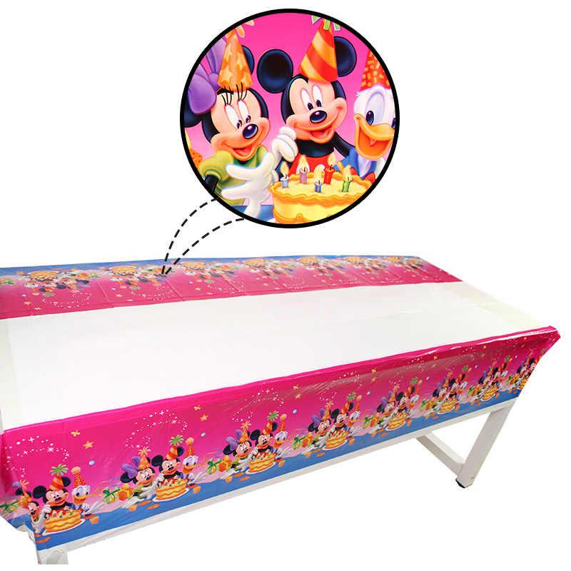1.08*1.8 M Toalha de Mesa Decoração Festa de Aniversário Crianças Mickey Mouse Theme Tablecover Descartáveis Fontes do Partido de Aniversário Do Bebê