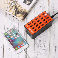 USB Hub 100W 20 Port USB Hubs With Wall Charger Adapter Smart Charging Station Auto Detect Tech & Foldable Plug for Charging