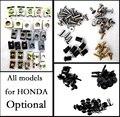 Optional- Complete Fairing Bolt nut screw Kit For HONDA bolt CBR600RR CBR1000RR 2003 2004 2005 2006 fairing screw Accessories