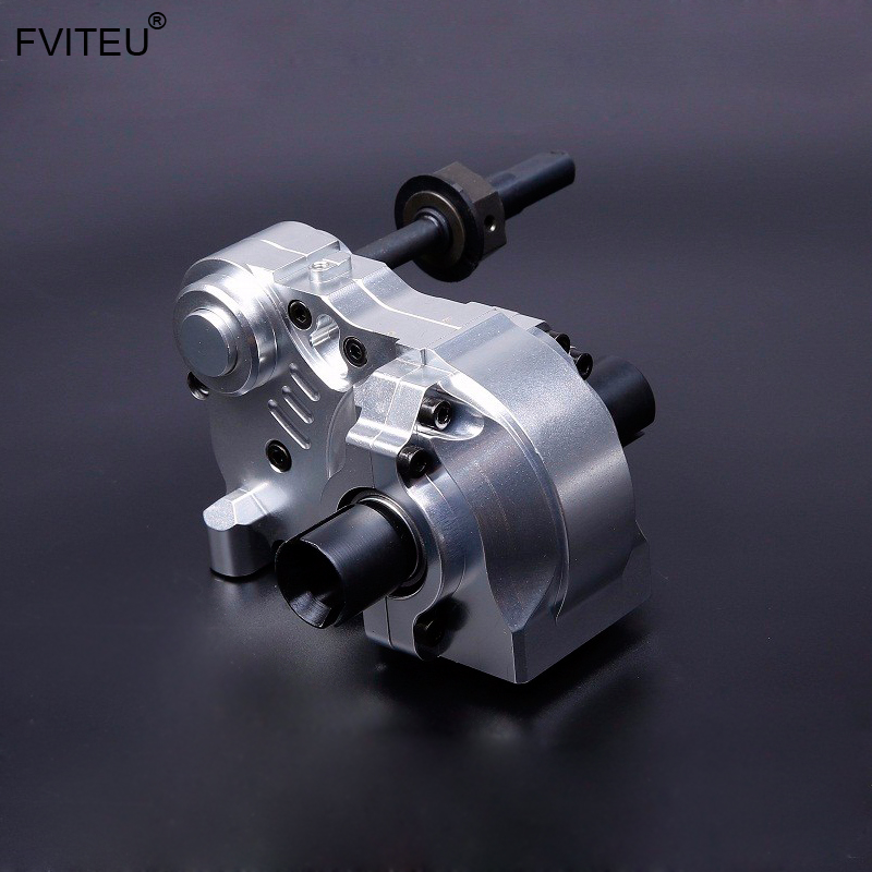 FVITEU three section gear box Complete Diff Gear Box Set With Metal Case for HPI BAJA