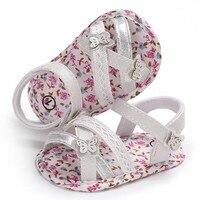 Младенческой детские сандалии с цветочным принтом для маленьких девочек сандалии мягкой подошвой домашние детские кроватки обувь нескользящие сандалии
