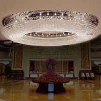 K9 Crystal Size 150 cm *150cm * 43cm Circular Led Ceiling Lights Dome Light Hotel Lobby Crystal Droplight Sitting Room Light