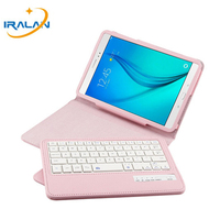 Wireless Bluetooth Keyboard Case For Samsung Galaxy Tab A 8.0 inch T350 T351 T355 P350 P355 Cases Leather Stand Flip Cover+Film