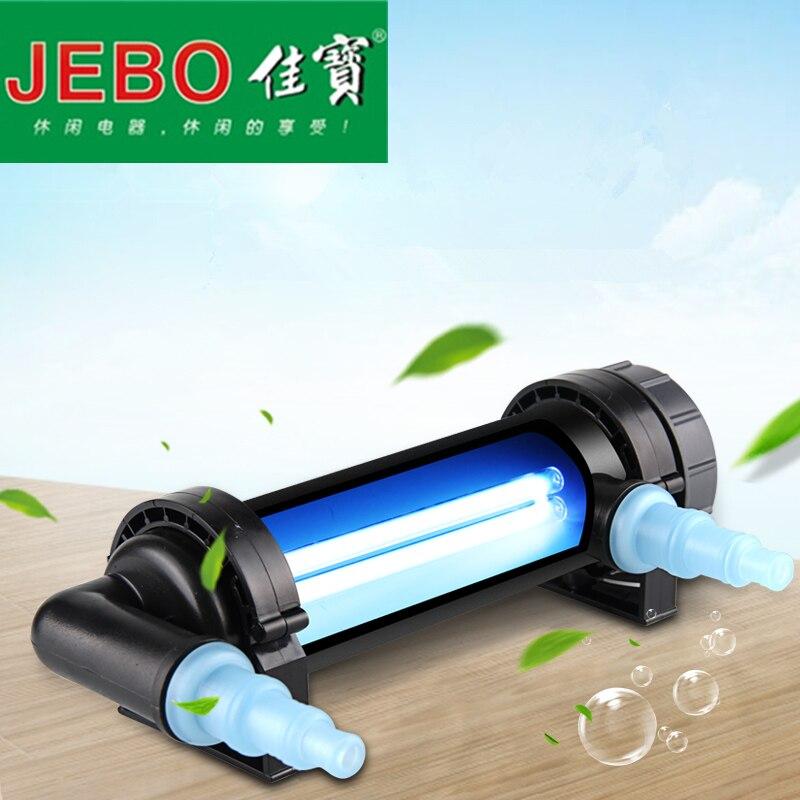 JEBO 220~240V 5W~36W UV Sterilizer Lamp Light Water Cleaner For Aquarium Pond Fish Tank Ultraviolet Filter Clarifier