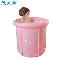 Adult Large frame support PVC folding warm keeping bathtub inner net Inflatable Portable bath barrel 80cx80cm