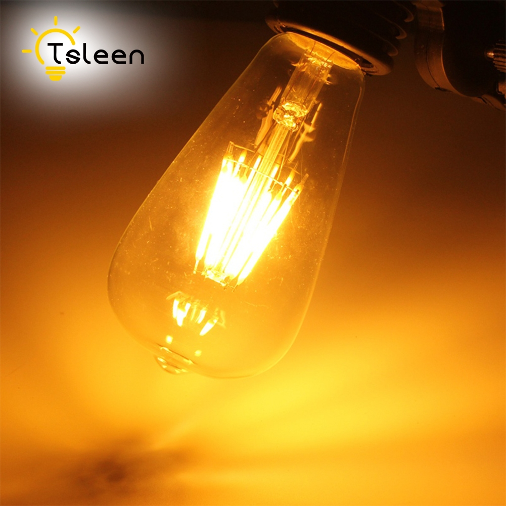 Wholesale 10X decorative LED filament bulb e27 Retro Edison Glass 220V 110v 230v 240v Vintage lamp