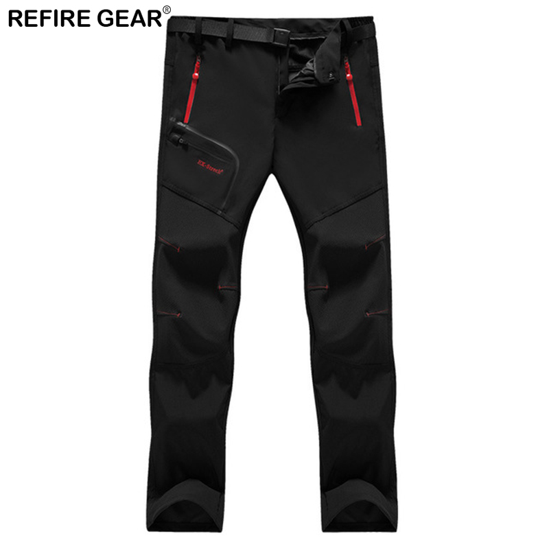 ReFire Gear Summer Spring Outdoor Sport Climb Hiking Pants Quick Dry Breathable Waterproof Thin Camping <font><b>Men</b></font> Trousers 5XL <font><b>6XL</b></font> image
