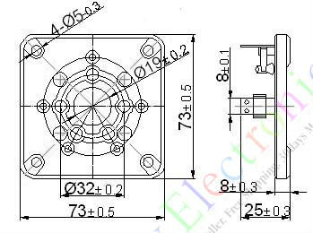 Оптом и в розницу 60 шт. Новый 5pin Керамическое гнездо вакуумная трубка Пт 3-500Z 4-400 U5G аудио amp части diy бесплатная доставка