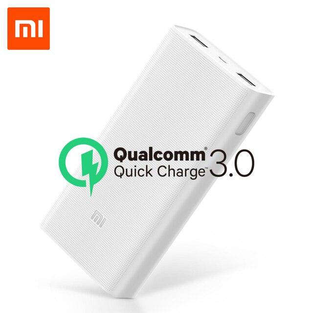 מקורי 20000mAh שיאו mi כוח בנק 2C 2 דרך מהיר טעינה QC3.0 mi Powerbanks כפולה USB יציאות חיצוני סוללה עבור חכם מכשיר
