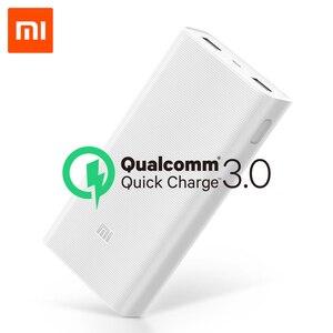 Image 1 - Original 20000mAh Xiao Mi Power Bank 2C 2 Way Quick ชาร์จ QC3.0 Mi Powerbanks Dual พอร์ต USB ภายนอกแบตเตอรี่สำหรับอุปกรณ์สมาร์ท