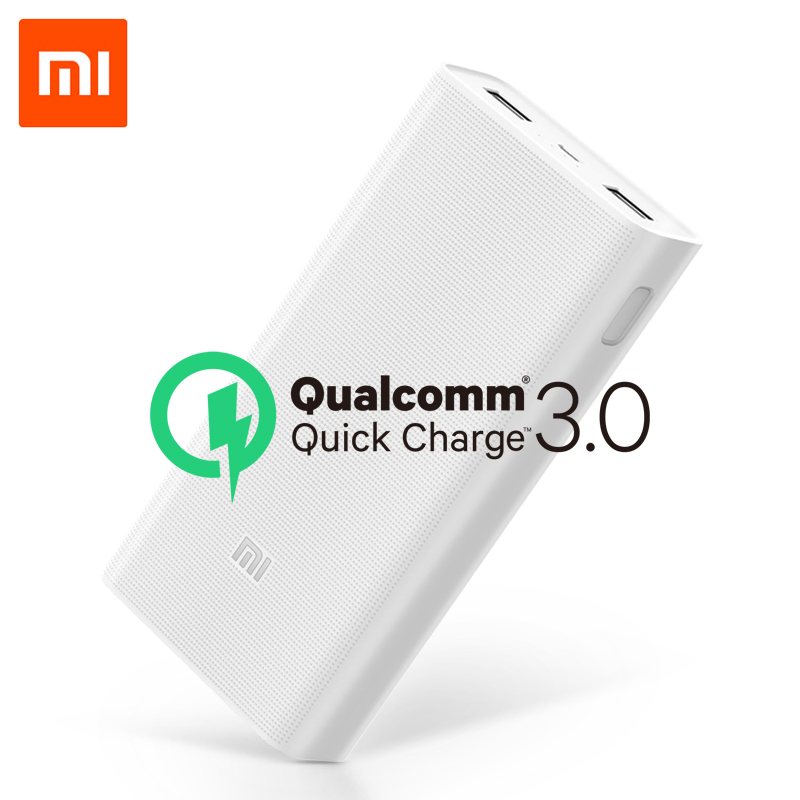 Original 20000mAh Xiaomi Power Bank 2C 2-way Quick Charging QC3.0 Mi Powerbanks Dual USB Ports External Battery For Smart Device