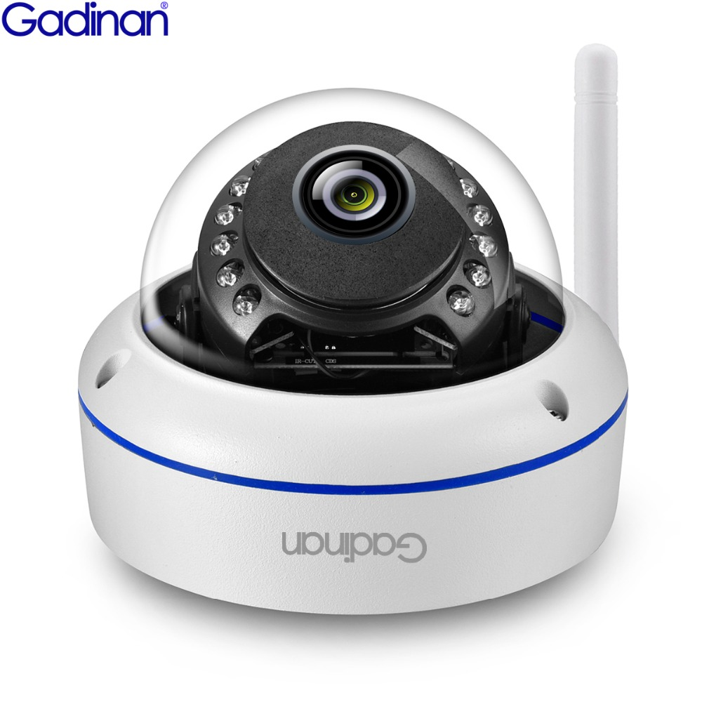 GADINAN WIFI Camera SONY IMX323 Dome Vandal proof Video Surveillance 3MP 2048 1536 With SD Card