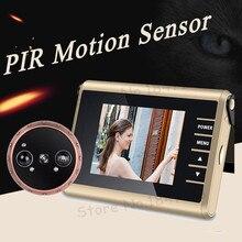 Новый ПИР обнаружения движения C автоматической видеозаписью дверной глазок камера 3,0 «ЖК-дисплей Электронный Смарт дверной глазок с дверные звонки