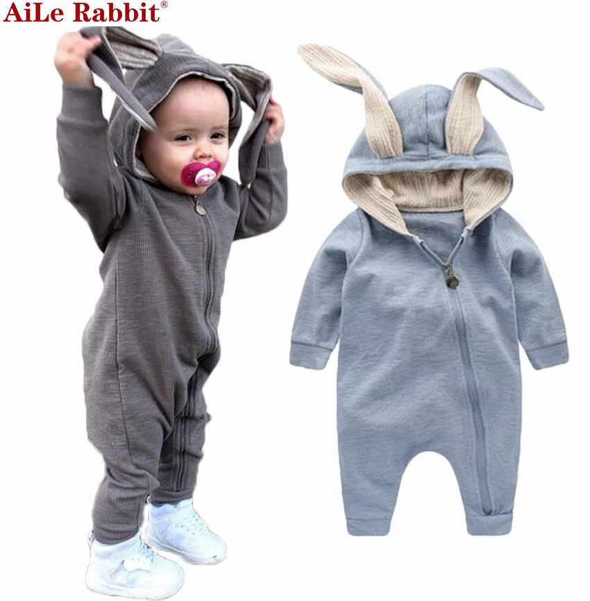 ecd76080c0ff New Spring Autumn Baby Rompers Cute Cartoon Rabbit Infant Girl Boy ...