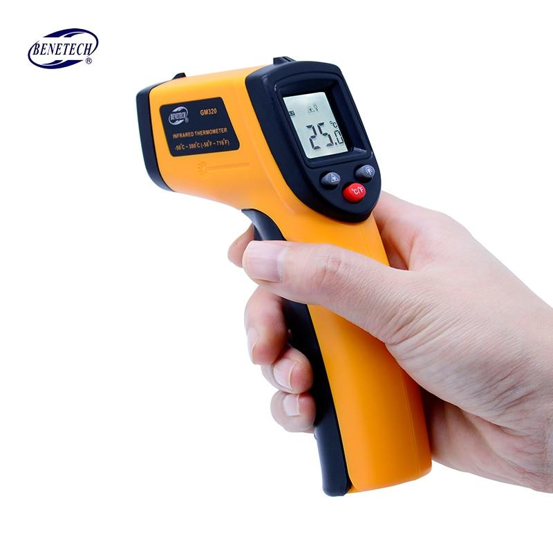 Digitale gm320 Infrarot Thermometer nicht kontakt infrarot thermometer temperatur Pyrometer IR Laser Punkt Gun-50 ~ 380 grad