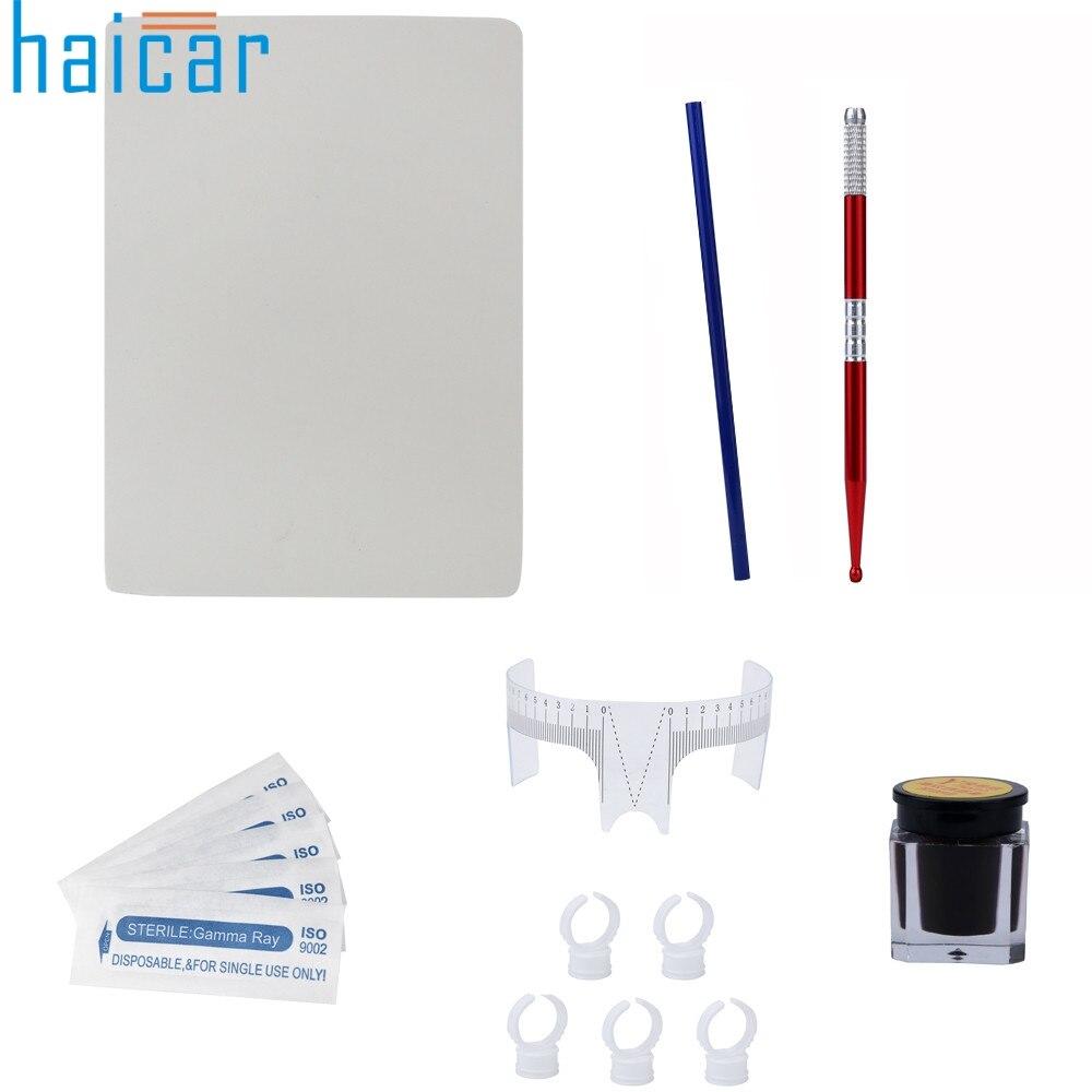 1set Microblading Permanent 3D Makeup Eyebrow HAICAR set Pen Pigment Kit New Arrival 17M11